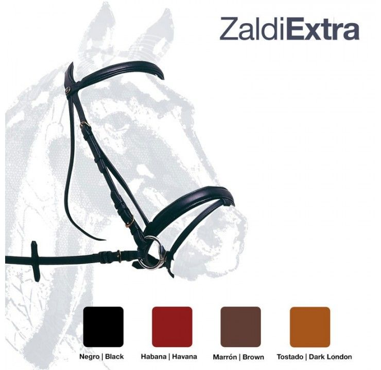 Handmade competition single bridle by Zaldi